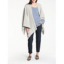 Buy Modern Rarity Luxury Cashmere Ribbed Cape, Light Grey Online at johnlewis.com
