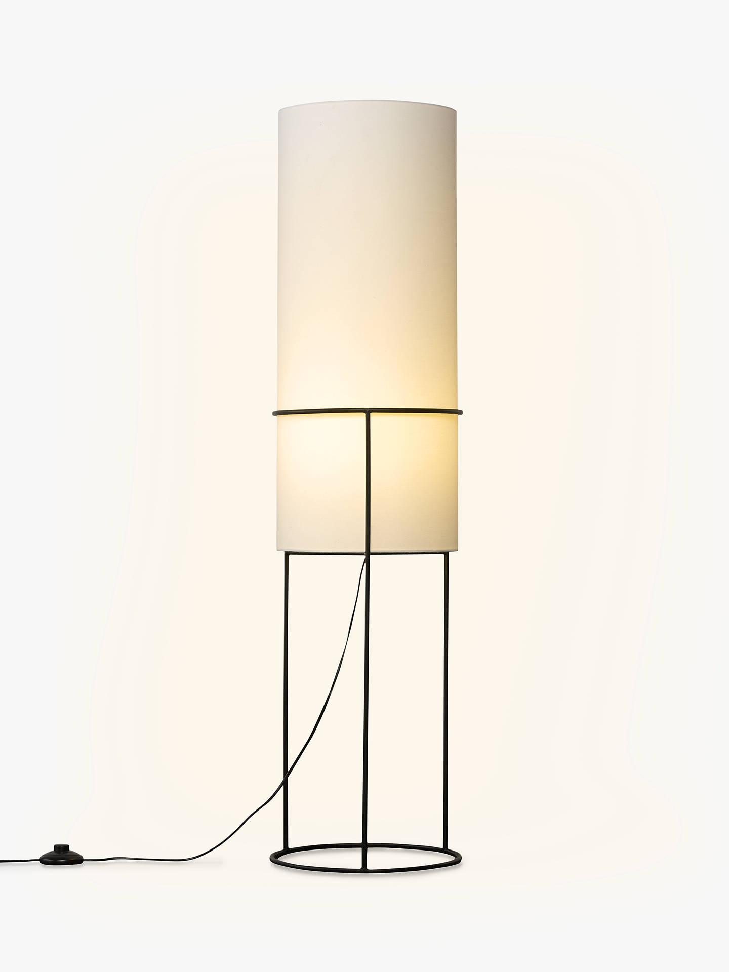 house by john lewis jed floor lamp black white at john. Black Bedroom Furniture Sets. Home Design Ideas