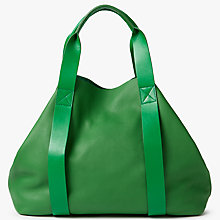 Buy Kin by John Lewis Helen Large Leather Tote Bag, Fern Green Online at johnlewis.com