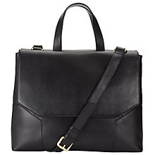Buy Kin by John Lewis Luna Workwear Leather Grab Bag, Black Online at johnlewis.com