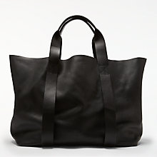 Buy Kin by John Lewis Helen Leather Tote Bag, Black Online at johnlewis.com