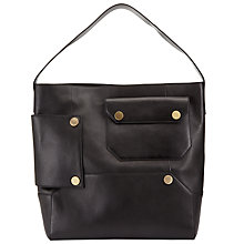 Buy Kin by John Lewis Luna Leather Shoulder Bag, Black Online at johnlewis.com
