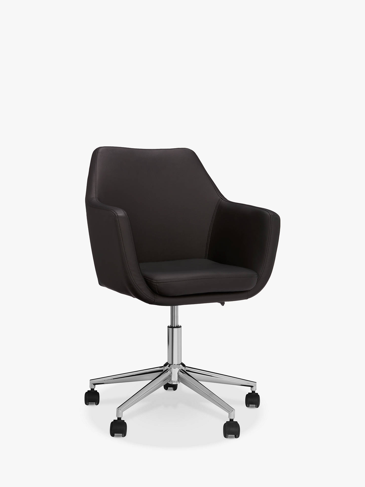 John Lewis Amp Partners Reid Faux Leather Office Chair At