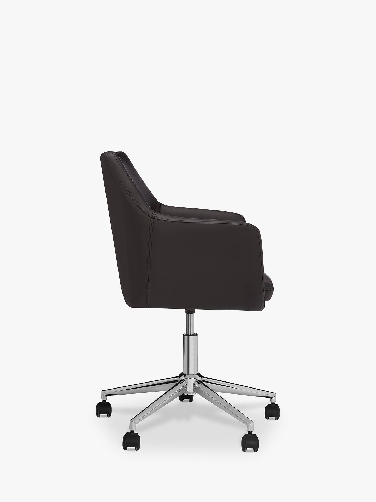 John Lewis & Partners Reid Faux Leather Office Chair, Black
