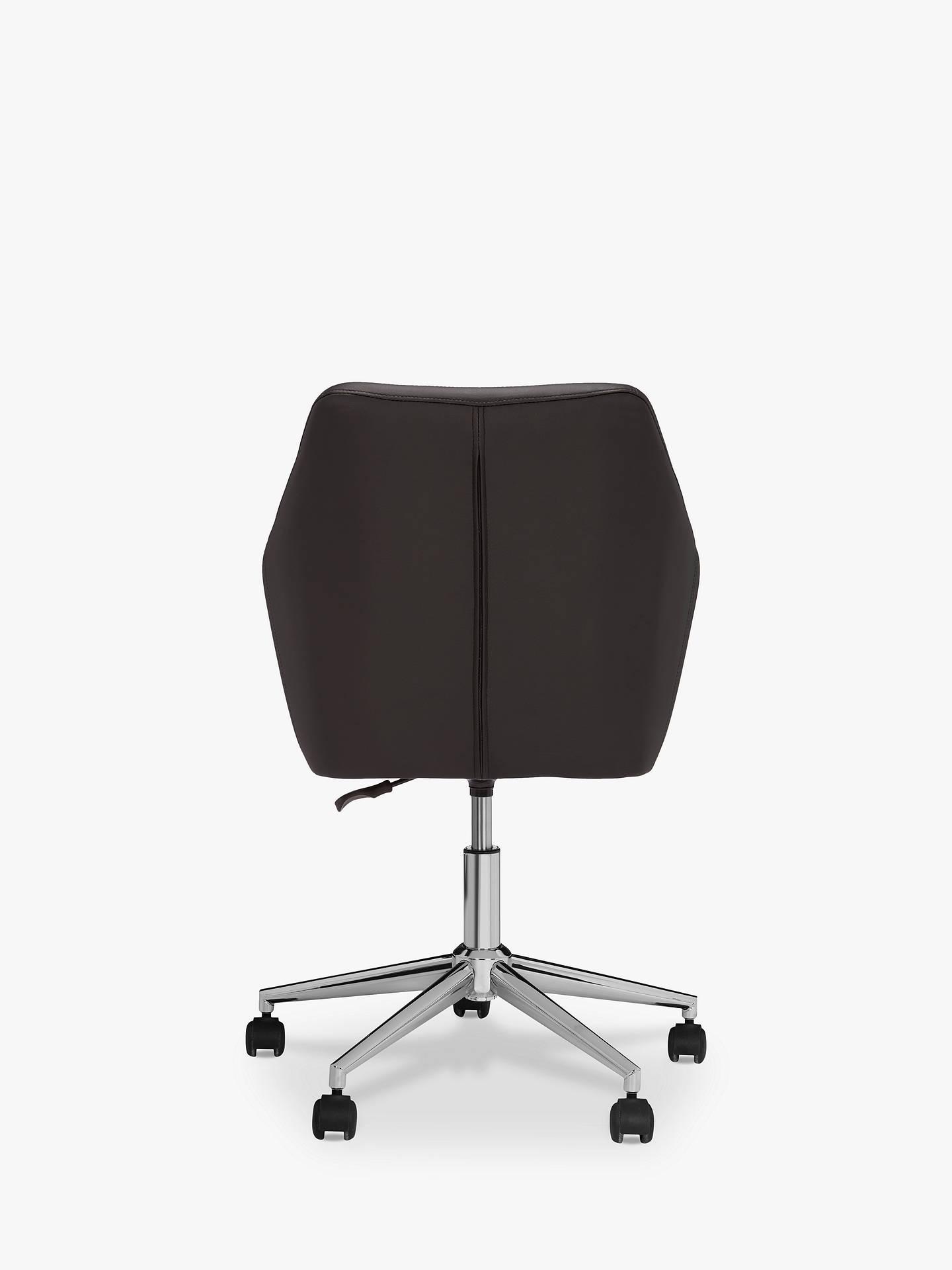 John Lewis Partners Reid Faux Leather Office Chair Black