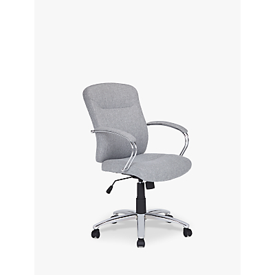 John Lewis & Partners Warner Fabric Office Chair, Grey
