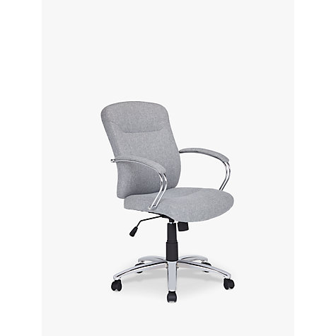 Buy John Lewis Warner Fabric Office Chair Grey John Lewis - Grey office chair