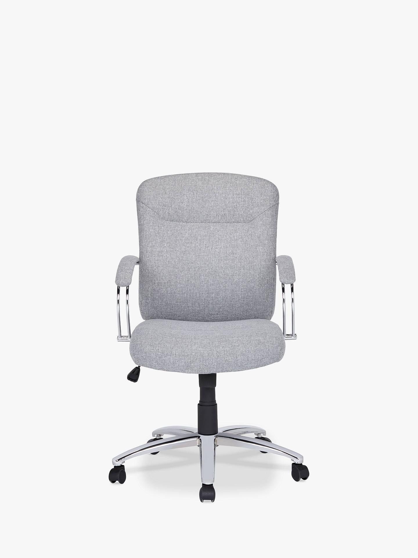 Buyjohn lewis partners warner fabric office chair grey online at johnlewis