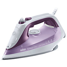 Buy Braun SI7066VI Texstyle 7 Pro Steam Iron, Purple/White Online at johnlewis.com