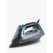 Buy Braun SI9188BK Texstyle 9 Pro Steam Iron, Grey/Blue Online at johnlewis.com