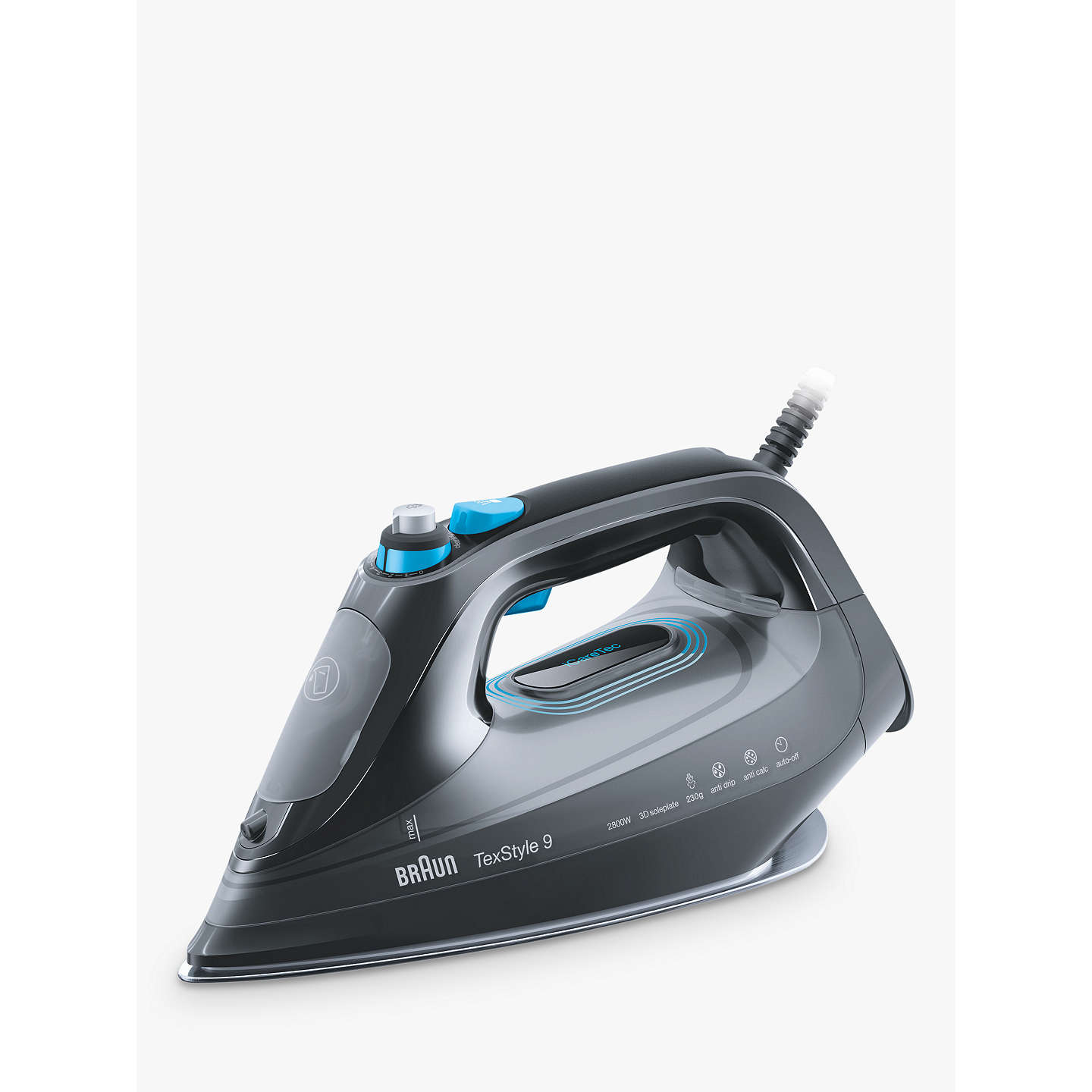 braun si9188bk texstyle 9 pro steam iron grey blue at. Black Bedroom Furniture Sets. Home Design Ideas