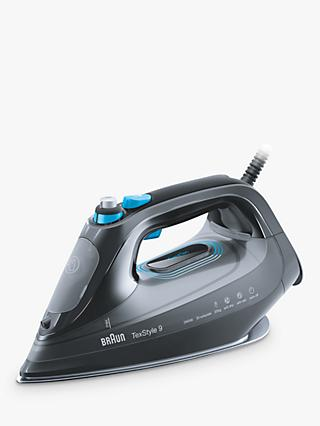 Braun SI9188BK Texstyle 9 Pro Steam Iron, Grey/Blue