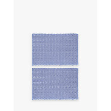 Buy John Lewis Fusion Placemats, Set of 2, Lapis Online at johnlewis.com