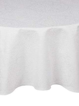John Lewis U0026 Partners Zari Round Tablecloth, Dia.180cm, White