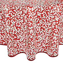 Buy John Lewis Snow Berries Wipe Clean Round Tablecloth, Red/White, Dia.180cm Online at johnlewis.com