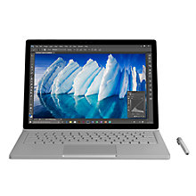 "Buy Microsoft Surface Book with Performance Base, Intel Core i7, 16GB RAM, 512GB, 13.5"" PixelSense Display, Silver Online at johnlewis.com"