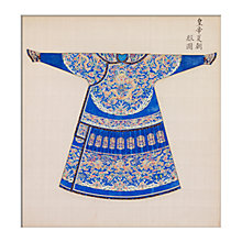 Buy V&A Blue Summer Court Robe Unframed Print, 40 x 30cm Online at johnlewis.com