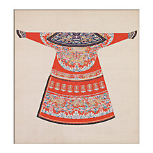 Buy V&A Red Winter Court Robe Unframed Print, 40 x 30cm Online at johnlewis.com