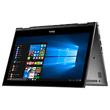 "Buy Dell Inspiron 13 5000 Series Convertible Laptop, Intel Core i3, 4GB RAM, 128GB SSD, 13.3"" Full HD, Grey Online at johnlewis.com"