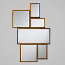 Buy John Lewis Multi-Aperture Antique Brass Mirror, Gold Online at johnlewis.com