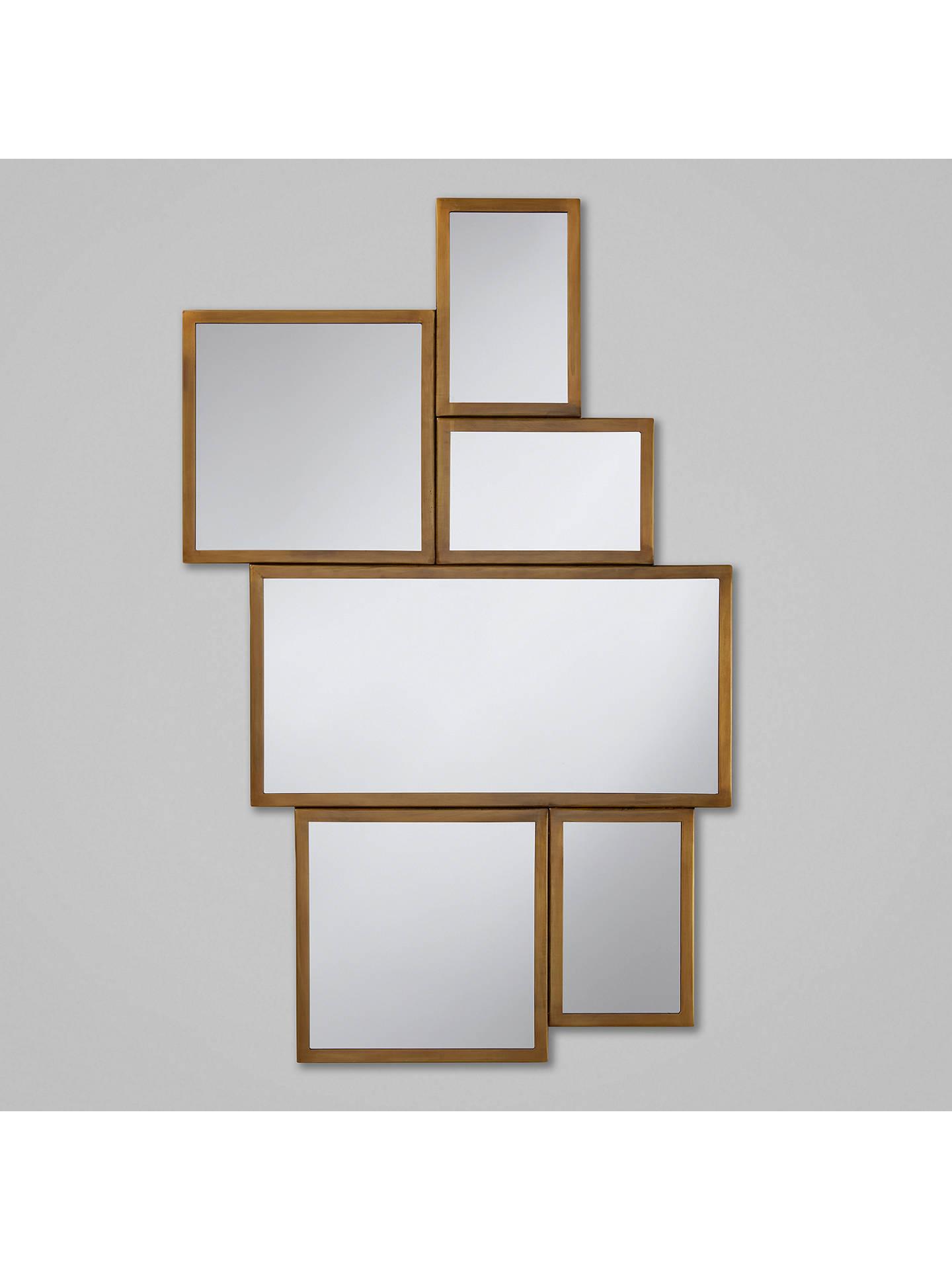 John Lewis Multi Aperture Antique Brass Mirror Gold At Johnlewis Com