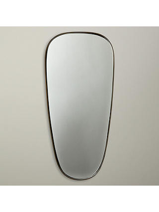 Buy John Lewis Irregular Oval Mirror, Brass Online at johnlewis.com