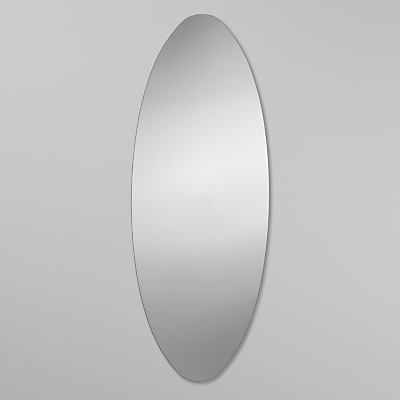 John Lewis Plain Glass Oval Mirror, 60 x 90cm