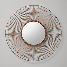 Buy John Lewis Wire Round Mirror, Copper, Dia.61cm Online at johnlewis.com