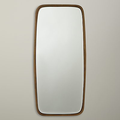 John Lewis Curved Rectangular Mirror, Brass