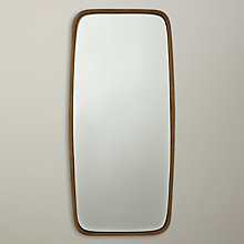 Buy John Lewis Curved Rectangular Mirror, Brass Online at johnlewis.com