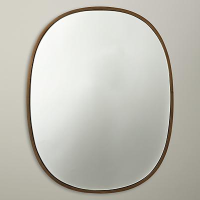 John Lewis Oval Organic Brass Mirror, Gold