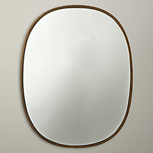 Buy John Lewis Oval Organic Brass Mirror, Gold Online at johnlewis.com