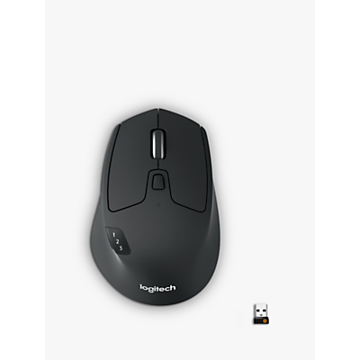Image of Logitech M720 Triathlon Multi-Device Wireless Mouse, Grey