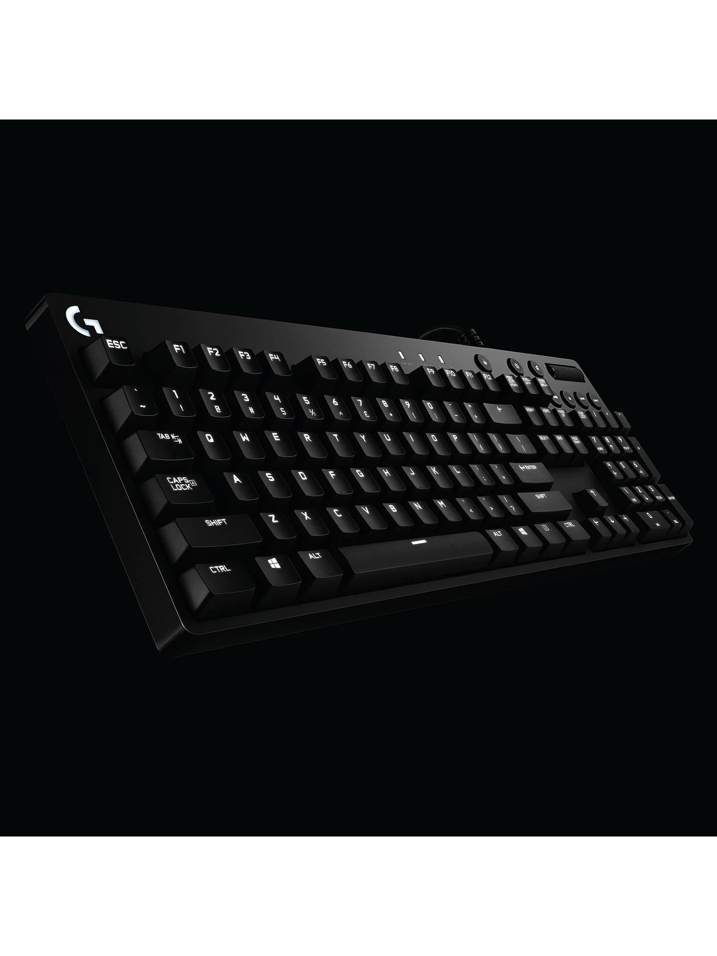 40c87f38629 ... Buy Logitech G610 Orion Red Backlit Mechanical Gaming Keyboard, Black  Online at johnlewis.com ...