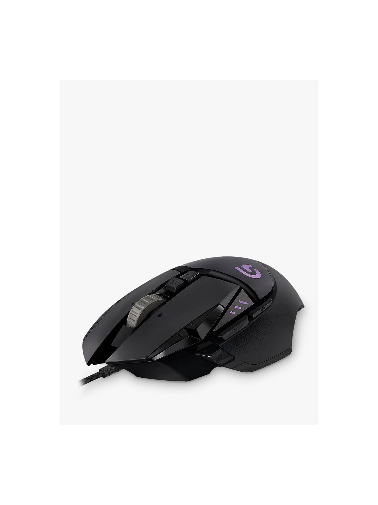 e07e5530b39 Buy Logitech G502 Proteus Spectrum RGB Tunable Gaming Mouse, Black Online  at johnlewis.com ...