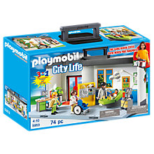 Buy Playmobil City Action Take Along Hospital Playset Online at johnlewis.com