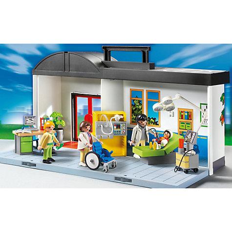 Buy playmobil city action take along hospital playset for Hospital de playmobil