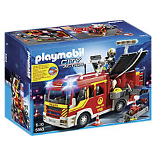 Buy Playmobil City Action Fire Engine with Lights and Sound Online at johnlewis.com