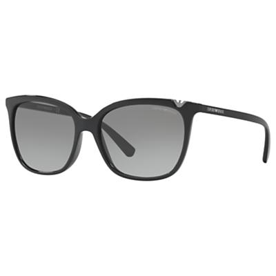 Emporio Armani EA4094 Square Sunglasses, Black/Grey Gradient
