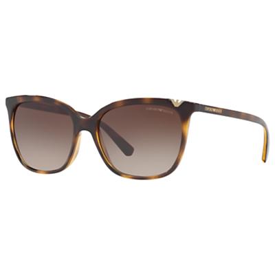 Emporio Armani EA4094 Square Sunglasses, Tortoise/Brown Gradient