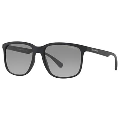 Emporio Armani EA4104 Square Sunglasses, Black/Grey Gradient