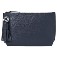 Buy Whistles Rope Detail Leather Wash Bag, Navy Online at johnlewis.com