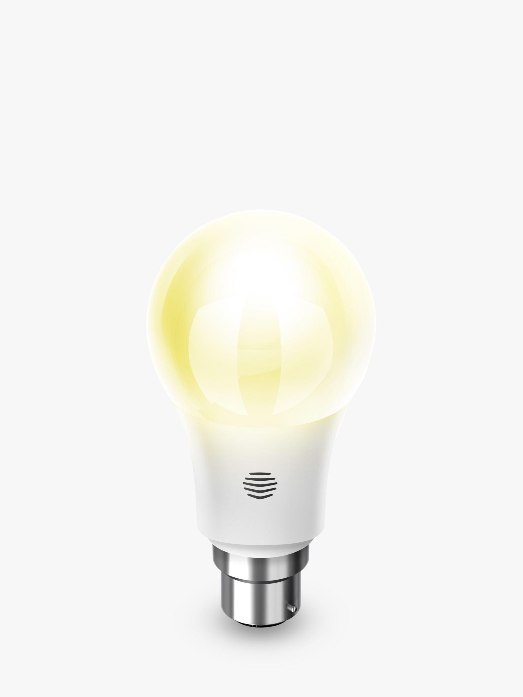 Hive Active Light Dimmable Warm White Wireless Lighting LED Light Bulb, 9W A60 B22 Bayonet Bulb, Single