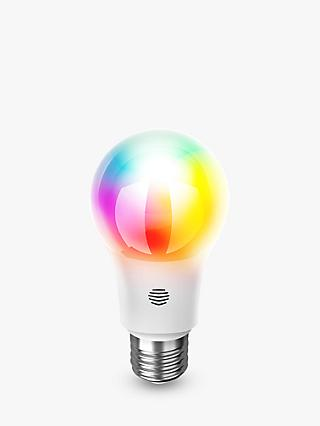Hive Active Light Colour Changing Wireless Lighting LED Light Bulb, 9.5W A60 E27 Edison Screw Bulb, Single
