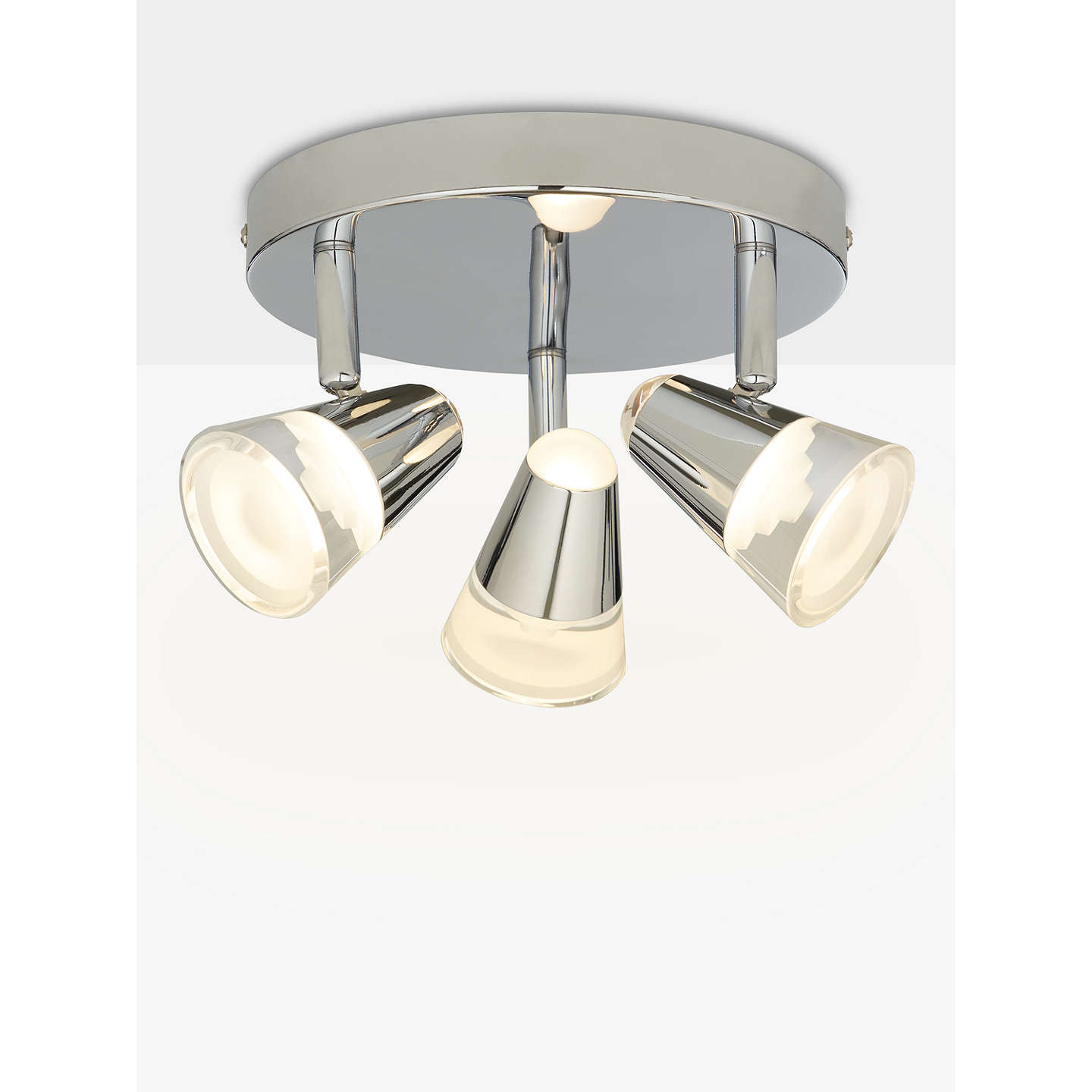 online lights and bathrooms lewis polaris 3 led bathroom spotlight ceiling plate 19803