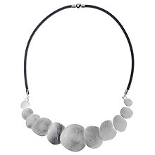 Buy Adele Marie Graduated Scratch Disk Necklace, Silver Online at johnlewis.com