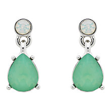 Buy Monet Glass Crystal Single Teardrop Drop Earrings Online at johnlewis.com