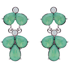 Buy Monet Glass Crystal Teardrop Drop Earrings, Silver/Pacific Opal Online at johnlewis.com