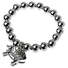 Buy Adele Marie Dachshund Charm Beaded Stretch Bracelet, Silver Online at johnlewis.com