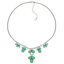 Buy Monet Glass Crystal Teardrop Necklace, Silver/Pacific Opal Online at johnlewis.com
